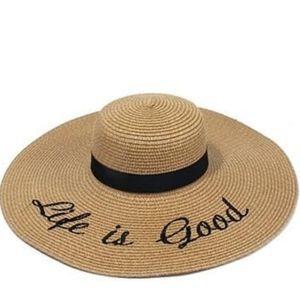 """Life is Good"" beach hat"